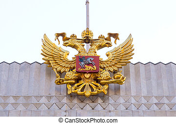 State symbols of Russias, emblem of the double-headed eagle...