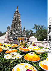 Mahabodhi temple, bodh gaya, India. The site where Gautam...