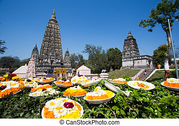 Mahabodhi temple, bodh gaya, India The site where Gautam...