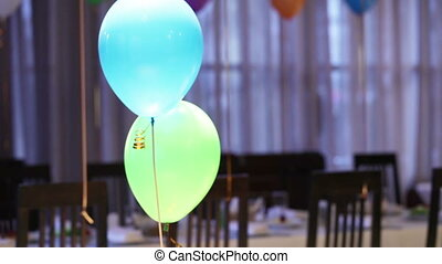 Two balloons - Helium-filled balloons to childrens birthday...