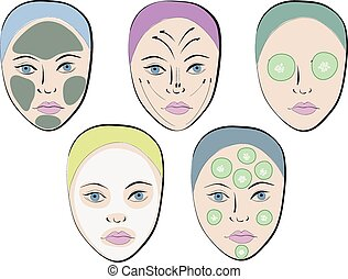 Vector set of faces