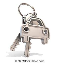 Car keys, isolated on white background