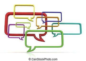 Concept of speech bubbles