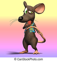 Cartoon Mouse or Rat #10 - Very cute mouse in cartoon style...