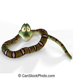 very cute cartoon snake lying on the floorimage contains a...