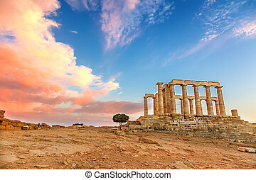 Ruins of Poseidon temple, Greece