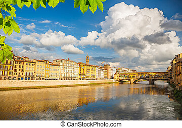 Arno river in Florence, Italy