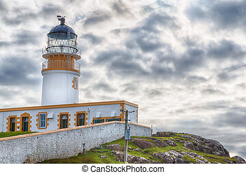 Neist Point Lighthouse closeup HDR - Lighthouse on the...