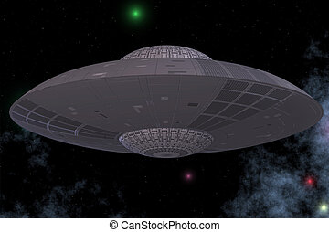 Unidentified Flying Object from Outerspace with BackgroundImage contains a Clipping Path / Cutting Path for the main object