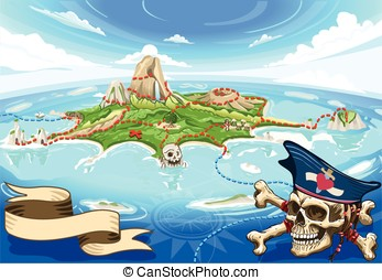 Pirate Cove Island - Treasure Map - Adventure Time - Pirate...