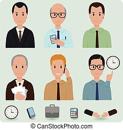Business men icons