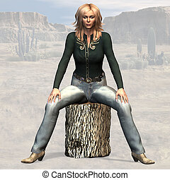 Cowgirl #12 - Wild West Series with Cowboys, Indians, Good...
