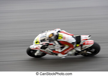 Motogp Racing Blurred - Intentionally blurred to portray...