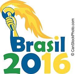 Brasil 2016 Summer Games Athlete Hand Torch