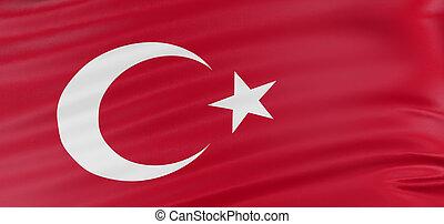 3D Turkish flag