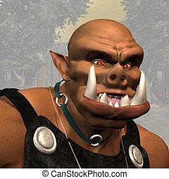 Ogre #02 - Fantasy Series - Image contains a Clipping Path