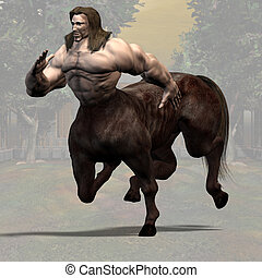 Centaur #01 - Rendered Image of a Centaur - with clipping...