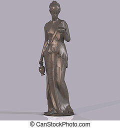 Statue of Hebe - rendered image of goddess Hebe with...