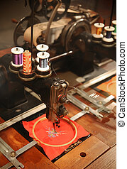 retro sew machine - old fashion sew machine