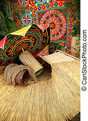 Indonesian art craft background - craft background and...