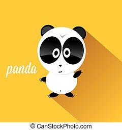 panda bear vector illustration. flat style cartoon bear