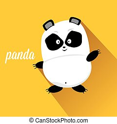 panda bear vector illustration flat style cartoon bear