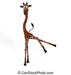 Cute giraffe with a funny face - lovely