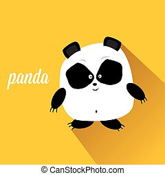 panda bear vector illustration. flat style cartoon bear