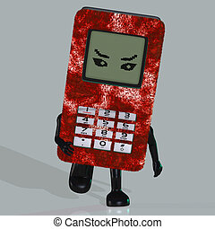 Cartoon cell phone - A toon cell phone with arms and legs...