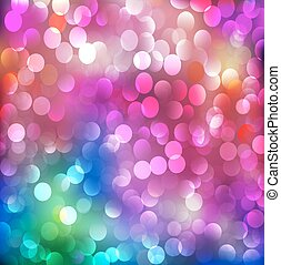 abstract background with neon bright bokeh - illustration...