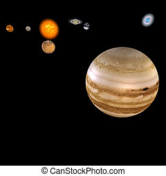 Solar System - Jupiter - image of the solar system focus on:...