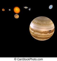 Solar System - Jupiter - image of the solar system. focus...