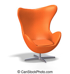 egg chair - funky egg chair from the 70s with Clipping Path