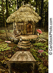 fairy house (stump) - series, fairy house (stump), a...