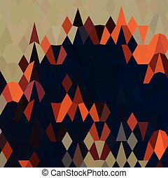Orange Blue Abstract Low Polygon Background - Low polygon...
