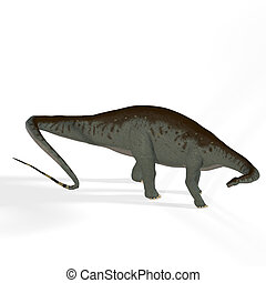 Apatosaurus aka Brontosaurus - Rendered Image of a Dinosaur...
