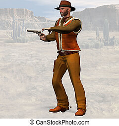 Bad Cowboy - Wild West Series: Cowboys with Clipping Path