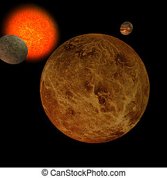 Solar System - Venus - image of the solar system focus on:...