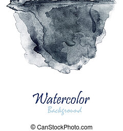 Abstract hand drawn watercolor background, raster...