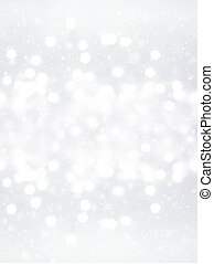 Elegant Defocused Christmas background with snowflakes,...