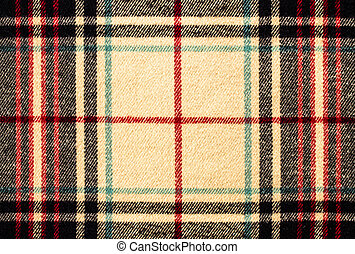 Fabric tartan plaid pattern as background Yellow color