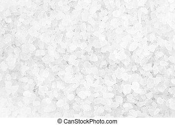 Crystal Sea Salt may use as background, closeup