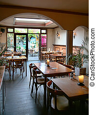 typical dutch cafe - interior of typical dutch cafe