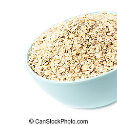 Healthy Homemade Oatmeal breakfast in a bowl close up. Oat...