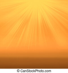 Sun on yellow background with copy space Soft colored...