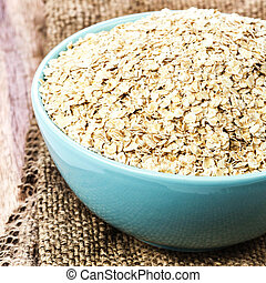 Oat flakes for Breakfast. Healthy Homemade Oatmeal breakfast...