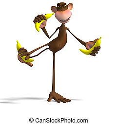 Monkey Business - Render of a funny Toon Monkey with...