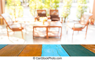 blur image of in living room near the garden - blur image of...
