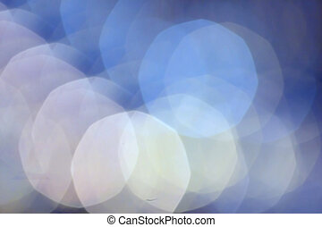 Abstract Defocused Bokeh light vintage background with blue...