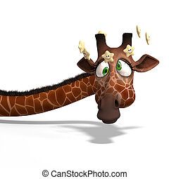 Toon Giraffe - Cute carton giraffe With Clipping Path